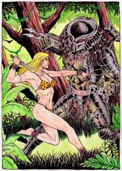 Jungle Girl vs Predator by gregohq