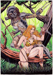 Junglegirl vs Predator girl by gregohq