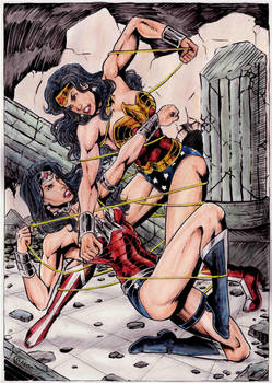 Wonder Woman vs Wonder Woman new 52 by gregohq