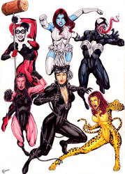 Marvel Dc Girls by gregohq