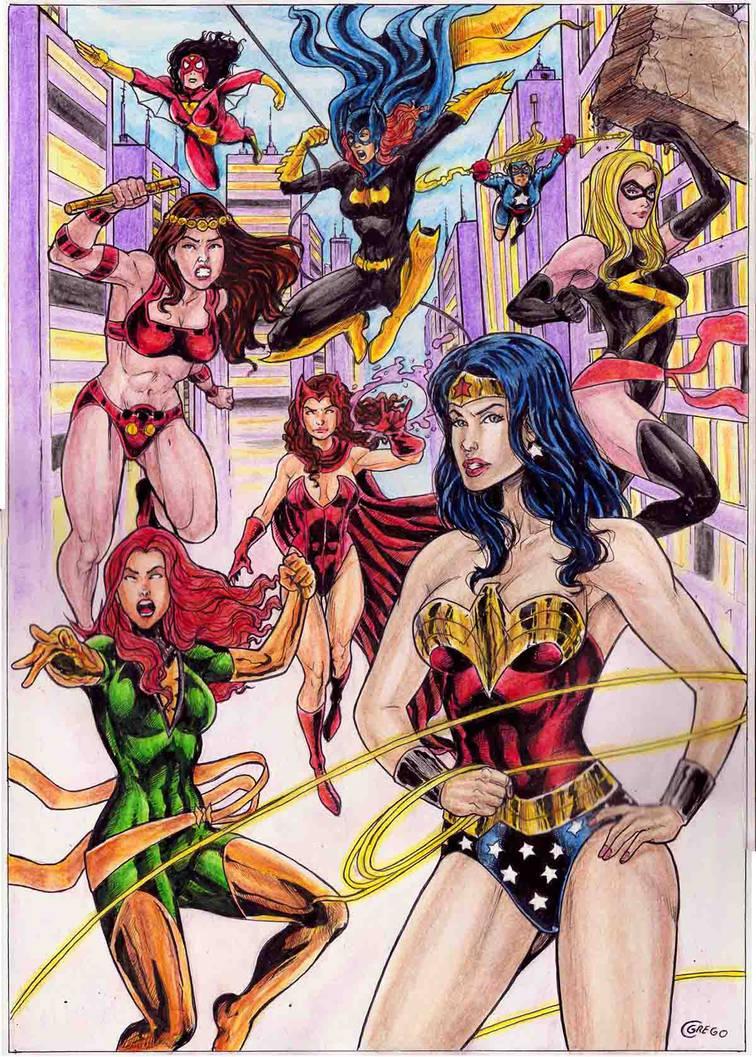 Dc Vs Marvel Girls22 by gregohq