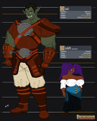 Ruc and Vush  - Pathfinder by SimonLMoore