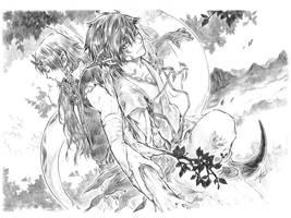 Aros and Zhi by yooani