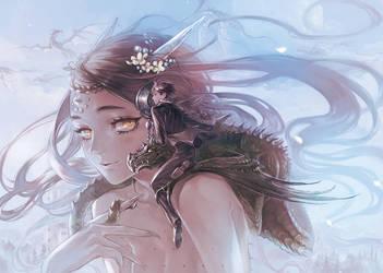 Dragon girl by yooani