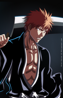 Ichigo's rain drags black sun down by Akira-12