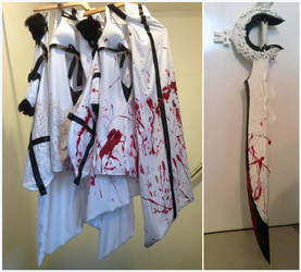 Drakengard 3 Zero Normal/Blood Costumes by Fantalusy