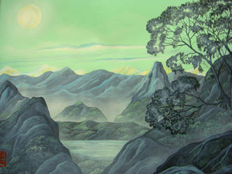 Green landscape by martoo1973
