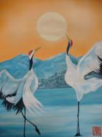 Cranes by martoo1973