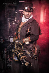 Gatling Gun - Steampunk Hunter by Arsenal-Best