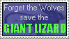 Giant Lizard, not Wolves Stamp by SizzyBubbles