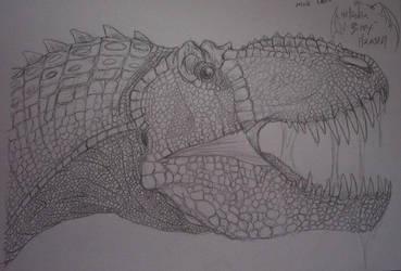 Male T-rex Buste by SizzyBubbles