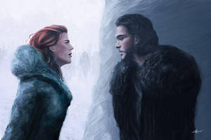 Ygritte and Jon Snow (Game of Thrones) by InkDrone