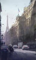 Paris (Study) by InkDrone