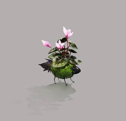 [Esk] Charming Kokedama Spirit by sordid-dessert