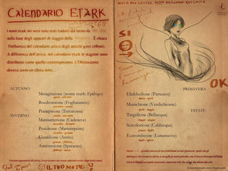 Calendario Etark / Etark calendar (Ancient Doc) by FrancescoGiuffrida