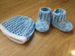 Blue Baby Uggs and Hat (FOR SALE) by fourthimbles
