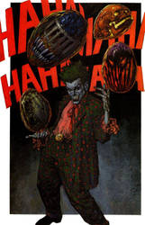 batman judge dredd joker splash page painting by GlennFabry