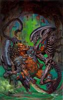Aliens vs Predator by GlennFabry