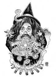 Alan Moore Tshirt by GlennFabry