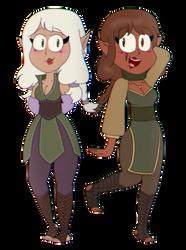 [COMM] Elisabeth and Arwen by SupremeKhi