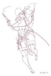 Sketch - Pirate Gunslinger by Just-TenTh