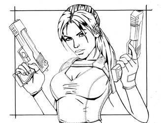 Tomb Raider Lineart - Doubles by Amanda-Lara1996