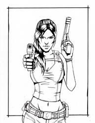 Are You Ready? - Tomb Raider Lineart by Amanda-Lara1996