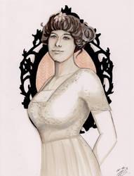 Inktober #8 - Madeleine Astor - Titanic survivor by Amanda-Lara1996