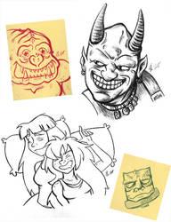 Sketch Dump Sunday 3-20-16 by TerribleToadQueen