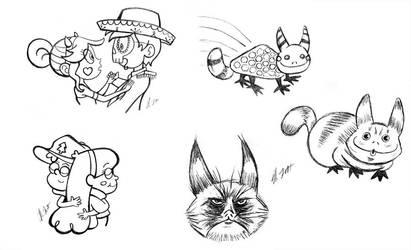 Sketch Dump Sunday 3-27-16 by TerribleToadQueen