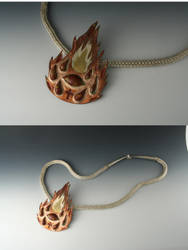 Fire Pendant by Arienne-Keith