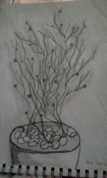 LED Tree sketch by buzzlightgirl