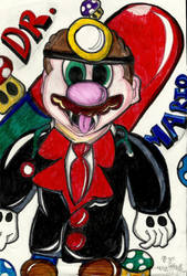 Dr Mario Coloured in by buzzlightgirl