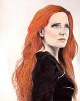 Simone Simons portrait by WasAnAlien