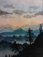 Watercolor Wood by WasAnAlien