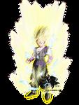 Super Saiyan 2 Teen Gohan MLL Redesign (Cell Saga) by MAD-54