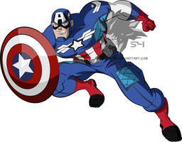 Earth's Mightiest- Captain America  by MAD-54