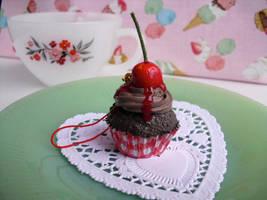 Chocolate Cherry Cupcake by kawaiifriendscafe