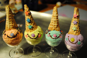 Ice cream sundae clowns by kawaiifriendscafe