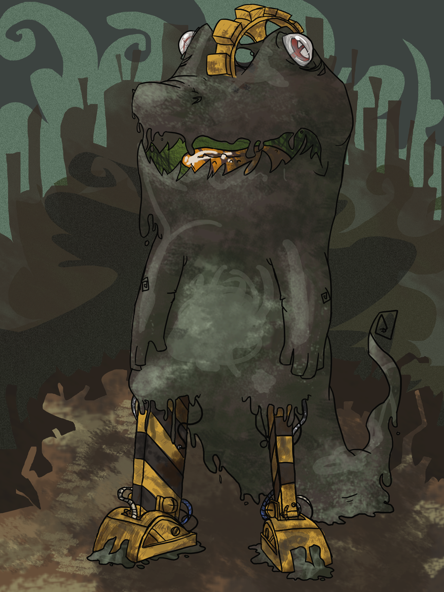 Junkyard Giant by nidit