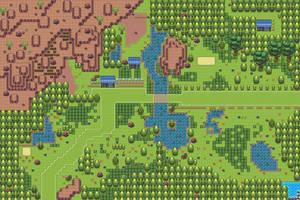 Pokemon Style Monster MMORPG Map Central Plains by MonsterMMORPG