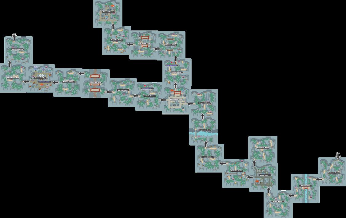 Pokemon Like Monster MMORPG V2 Zone 13 World Map by MonsterMMORPG