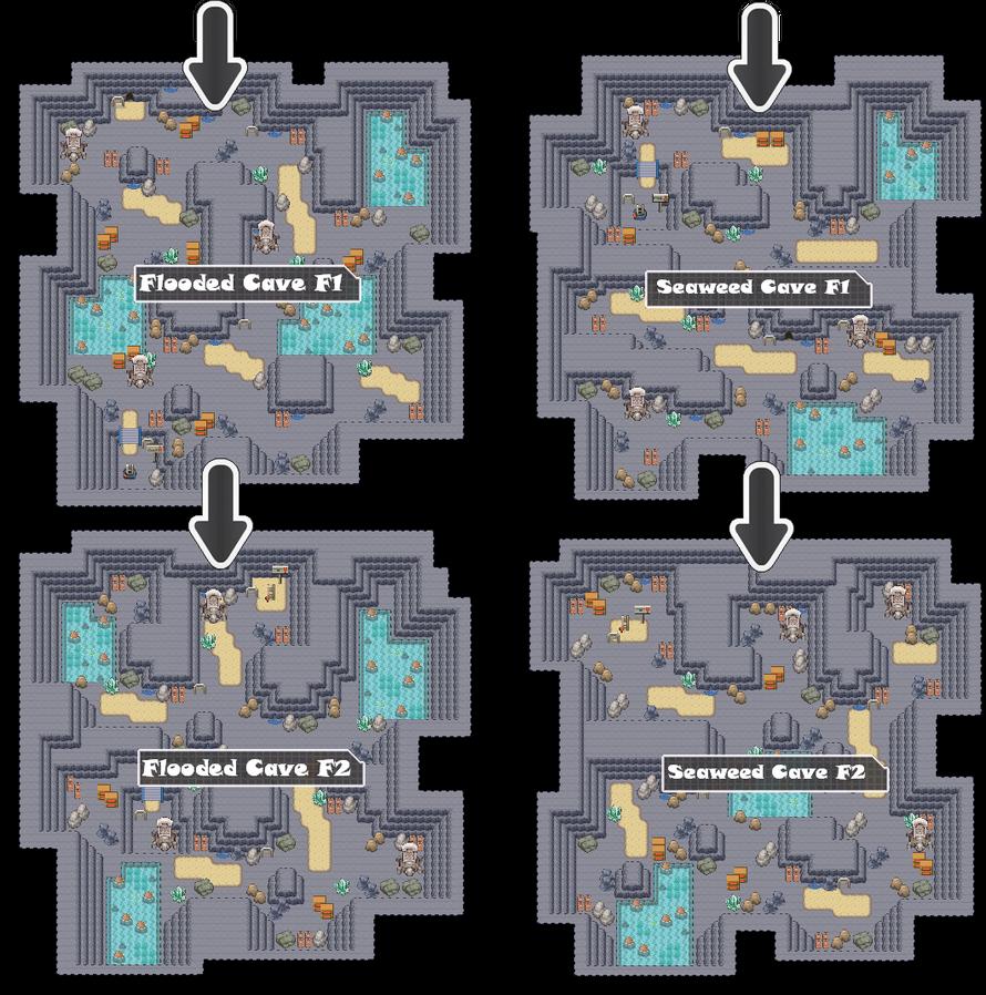 Zone 5 Water Caves Zone Map Pokemon Like MMORPG by MonsterMMORPG