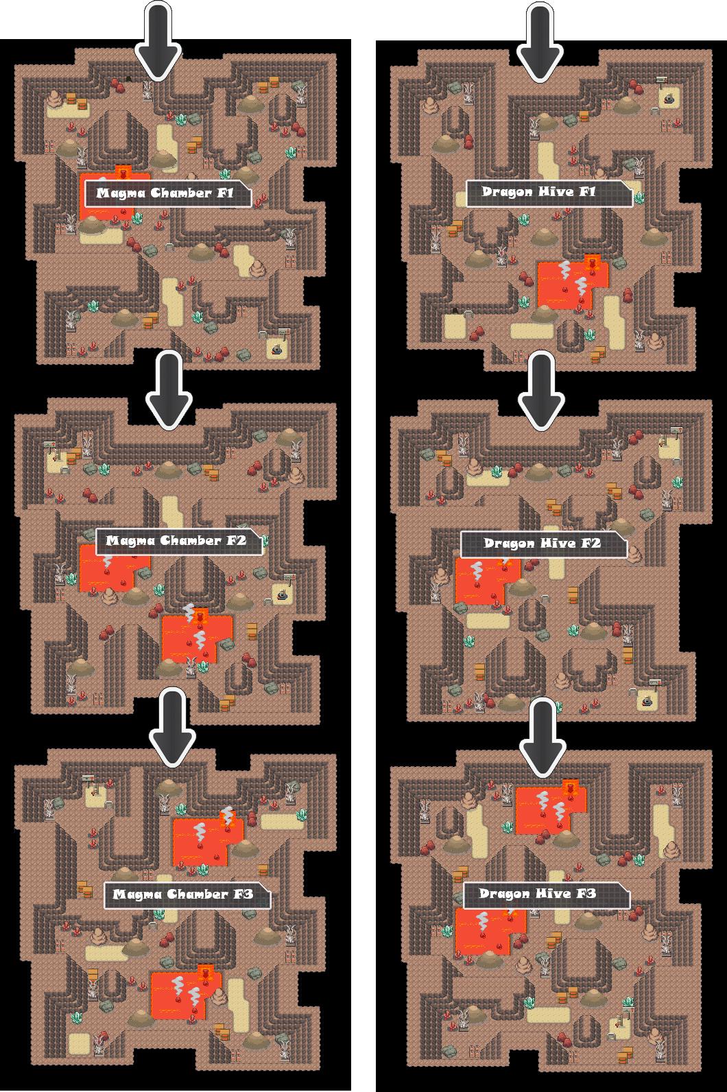 Zone 17 Dragon Caves Zone Map Pokemon Like MMORPG by MonsterMMORPG