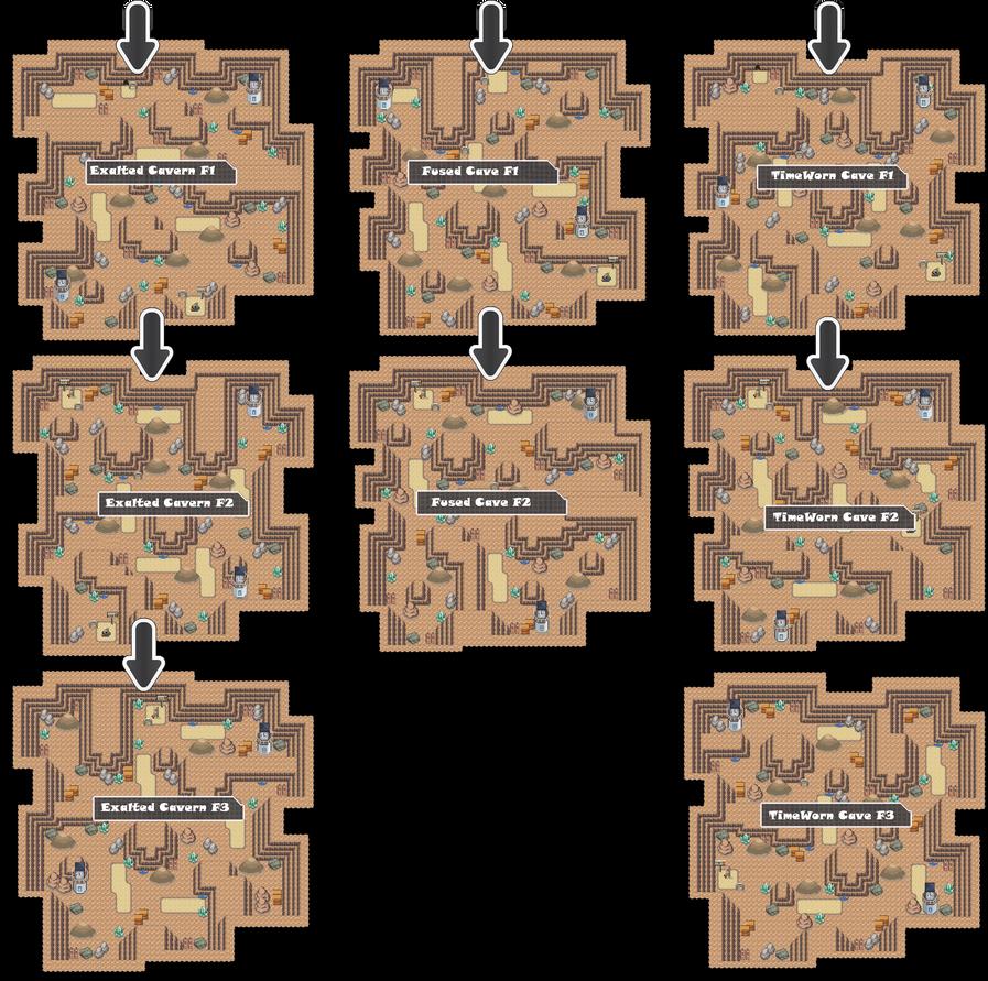 Zone 19 Mixed Caves Zone Map Pokemon Like MMORPG by MonsterMMORPG