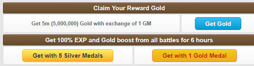 Claim Gold EXP Reward Interface by MonsterMMORPG