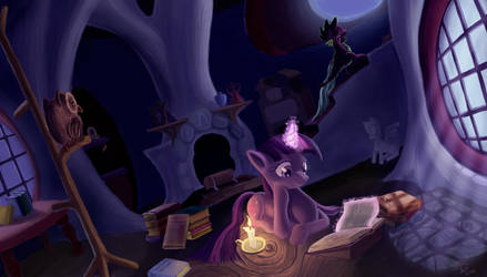 Late Night Studying by Tsitra360