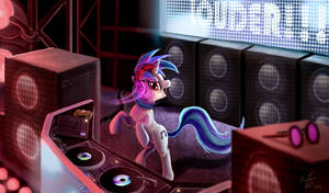 Vinyl Scratch_LOUDER by Tsitra360
