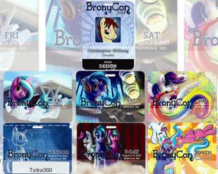 Bronycon Badges! by Tsitra360