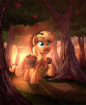 AJ in the woods _ Collab by Tsitra360